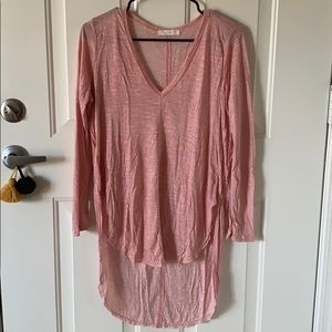 New Without Tags! Beautiful Pink High Low Shirt